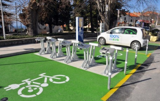 Station for Electric charging for e-bikes