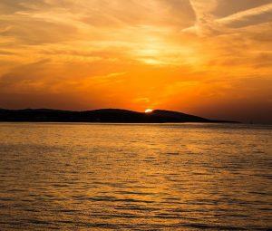 A beautiful sunset on Croatian seaside
