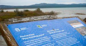 Educational trail board at Vransko Jezero