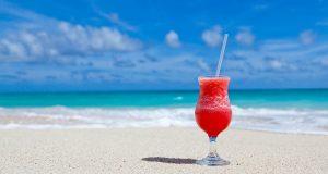 A cocktail on a sunny beach
