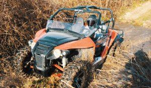 Buggy riding through the mud in Croatia