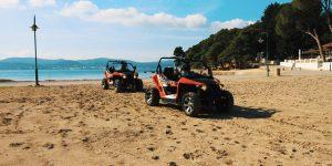 Two buggies on a beach in Croatia