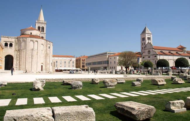 Zadar Roman Forum on a bright day